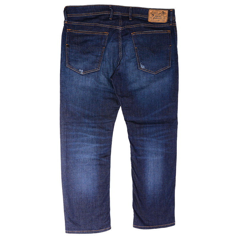 diesel waykee r7na8 mens denim jeans regular straight distressed casual pants