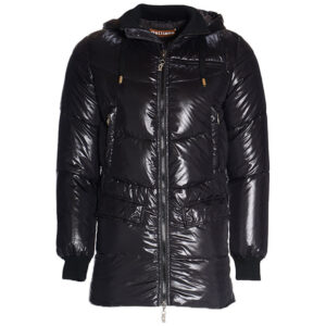 galliano womens bomber jacket hooded padded winter quilted outwear casual coat
