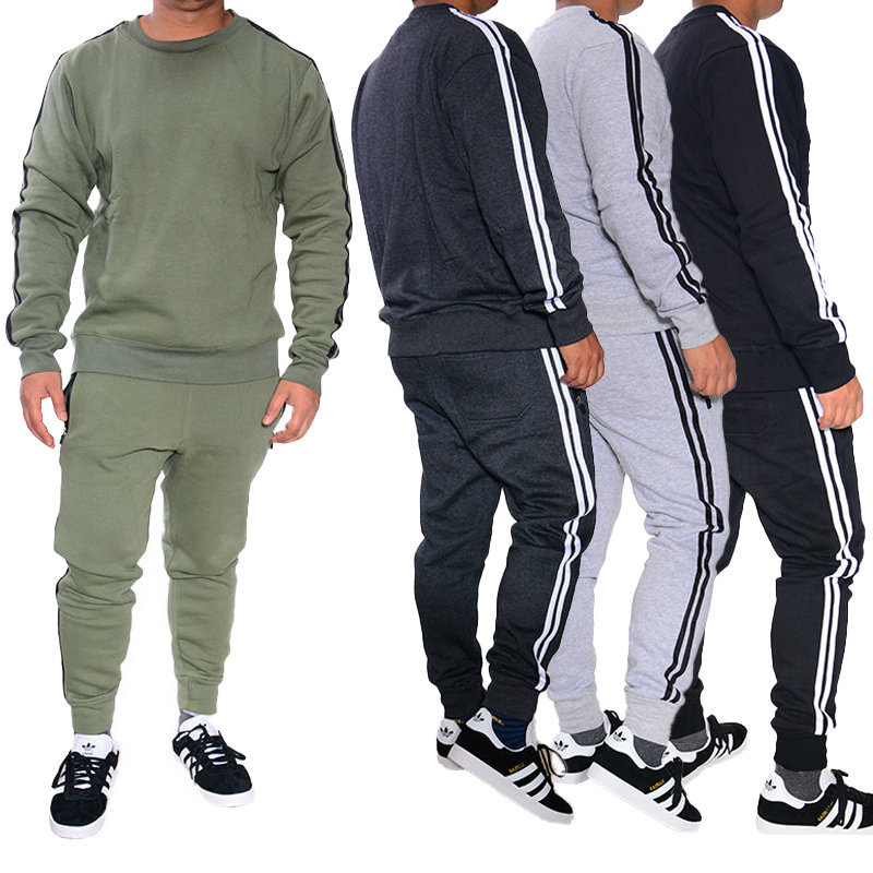 mens tracksuit set 2pcs hoodies sweatshirt pants bottoms sport set jogging suit
