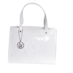 armani jeans 0520b rj bianco womens handbag ladies party casual handle bag white