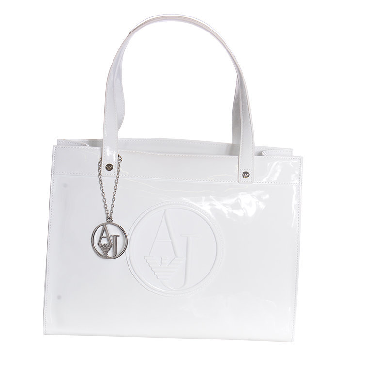 armani jeans 0520b rj bianco womens handbag ladies party casual handle bag white