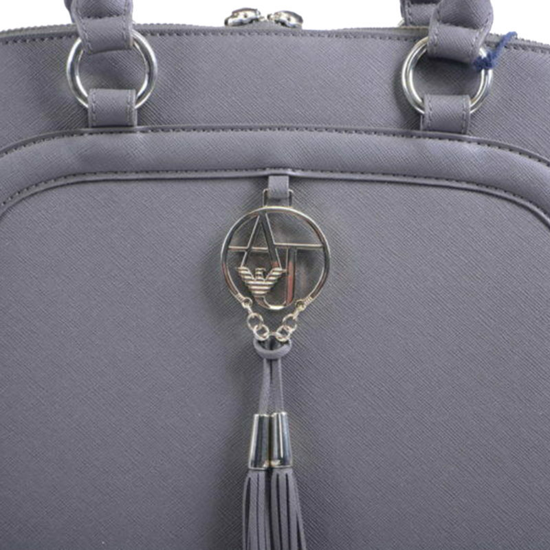armani jeans 922517 womens handbag zipped ladies party casual handle bag grey