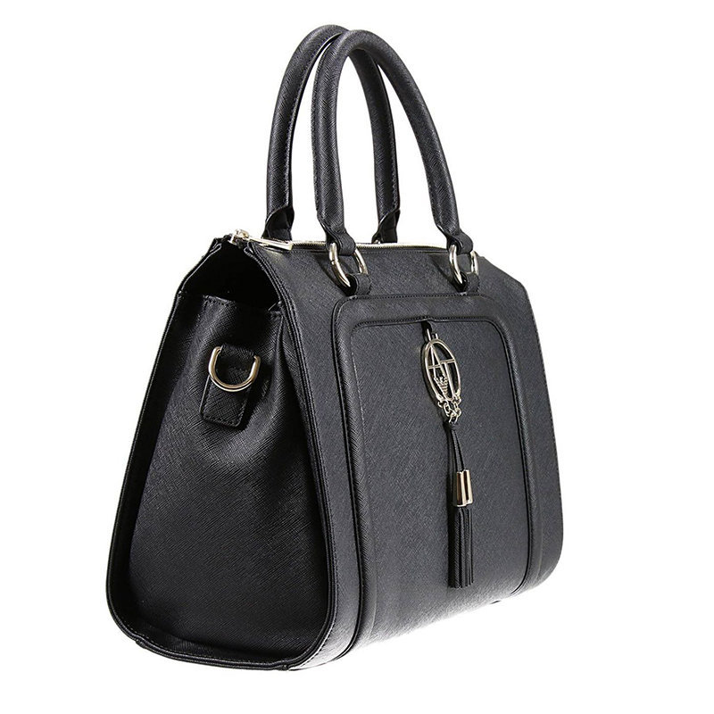 armani jeans 922518 womens handbag ladies party casual shoulder handle bag nero