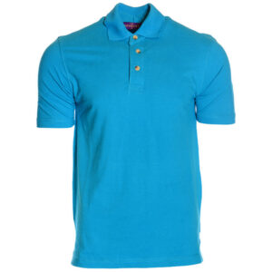 henbury mens polo t-shirt gents summer golf tee cotton button up casual t-shirt