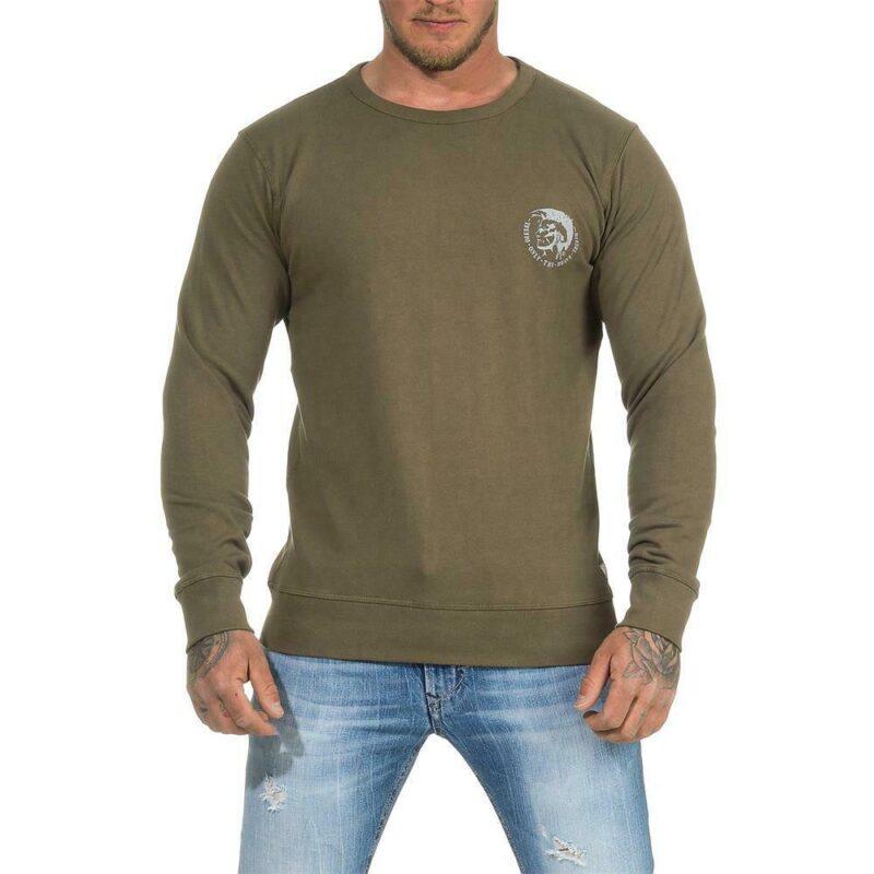 diesel umlt willy mens sweatshirt long sleeve pullover jumper cotton lounge wear