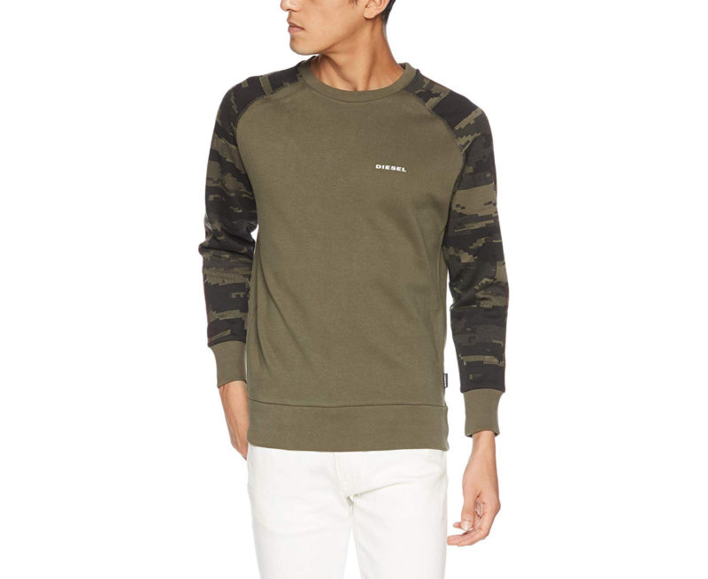 diesel umlt casey mens sweatshirt long sleeve pullover lounge wear