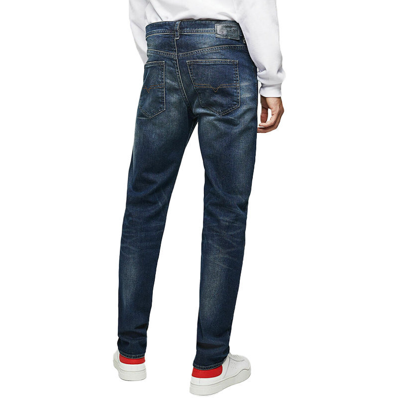 diesel buster 0853r mens denim jeans stretch regular slim tapered pant italy
