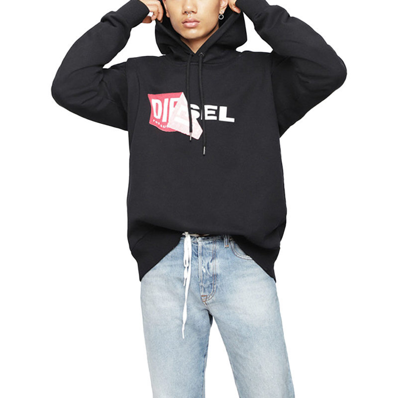 diesel s alby felpa men hoodie casual hooded top cotton over sized sweatshirt