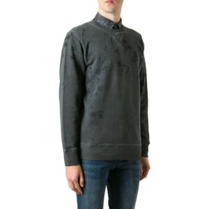 diesel s crix mens sweatshirts long sleeve regular black casual pullover jumper
