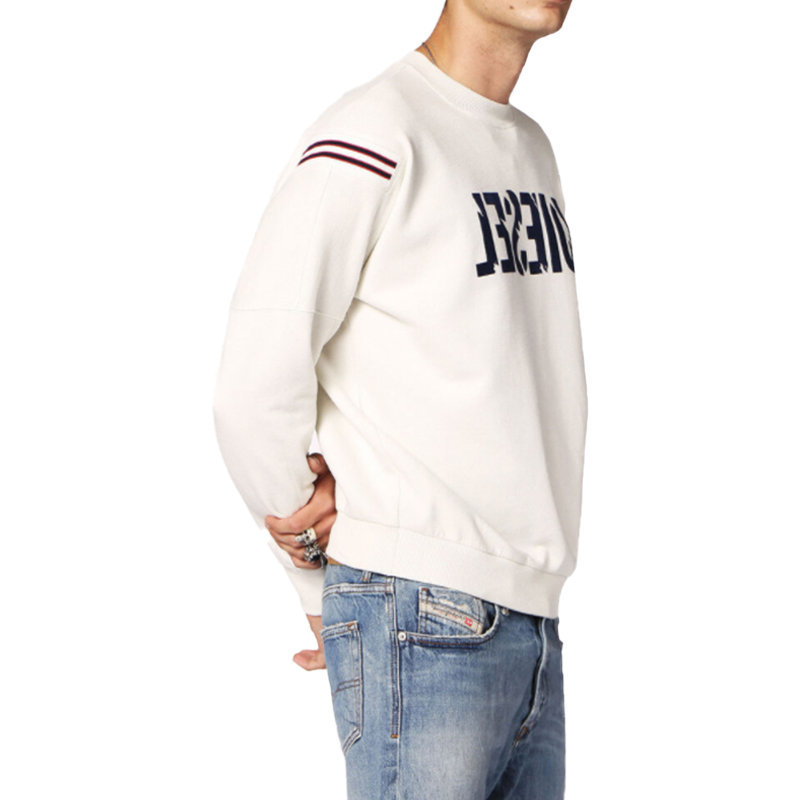 diesel s radio mens sweatshirt crew neck casual over size pullover cotton jumper