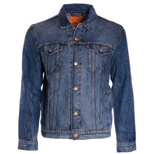 levis v0719 mens denim jacket regular fit classic cotton button up blue jacket