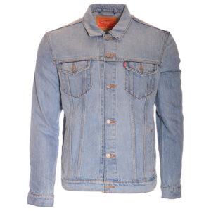levis v0720 mens denim jacket regular fit button up cotton light blue boyfriend