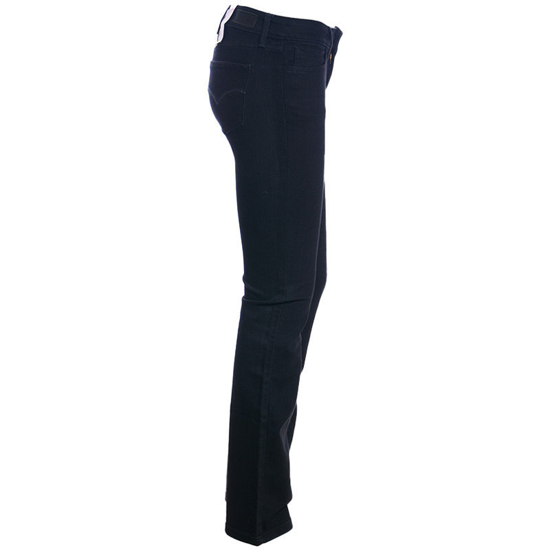 levis womens denim jeans demi casual legging mini boot plain stretchable black