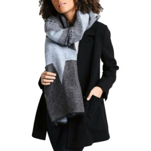 diesel s blanket sciarpa womens scarf winter shawl wrap ladies warm scarves grey