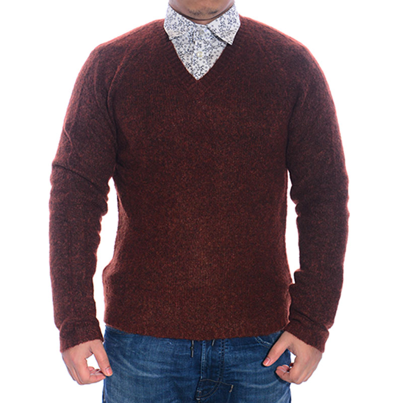 mango mens sweater long sleeve regular fit casual fluffy jumper winter sweater