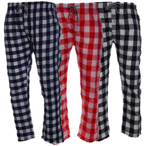 mens pyjamas bottom checked bottoms relax 3 pack pjs pyjama pants nightwear gift