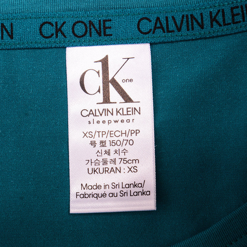 calvin klein ck one womens t shirt stretchable crew neck top ck logo casual tees