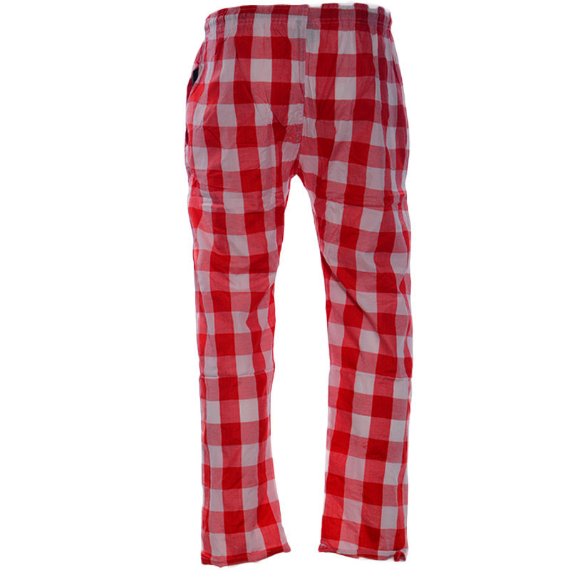 new mens pyjama bottom cotton woven check pyjama sleeping pjs red bottom pants