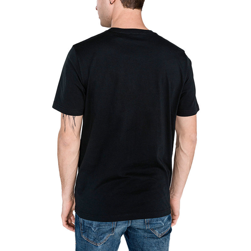 diesel t just y4 mens t shirt crew neck short sleeve casual black cotton tee