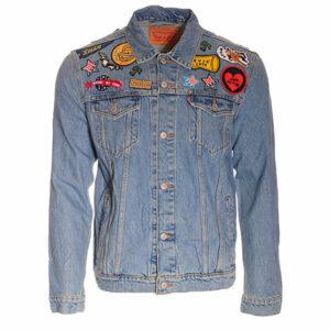 levis s5749 mens denim jacket blue jeans button vintage cotton casual trucker