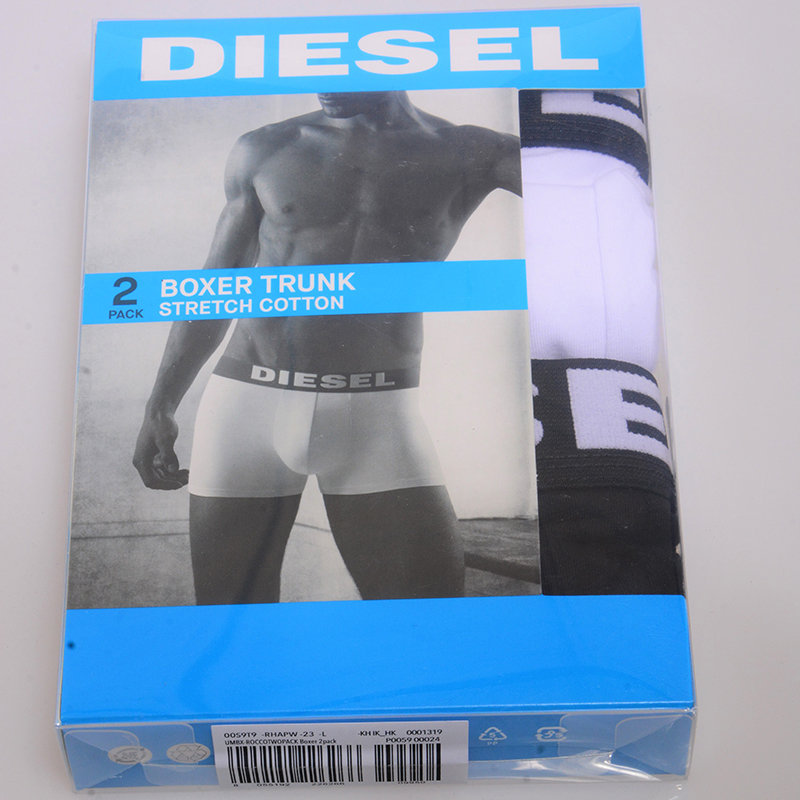 diesel umbx rocco 23 mens short boxer trunk 2x pack stretch cotton underwear