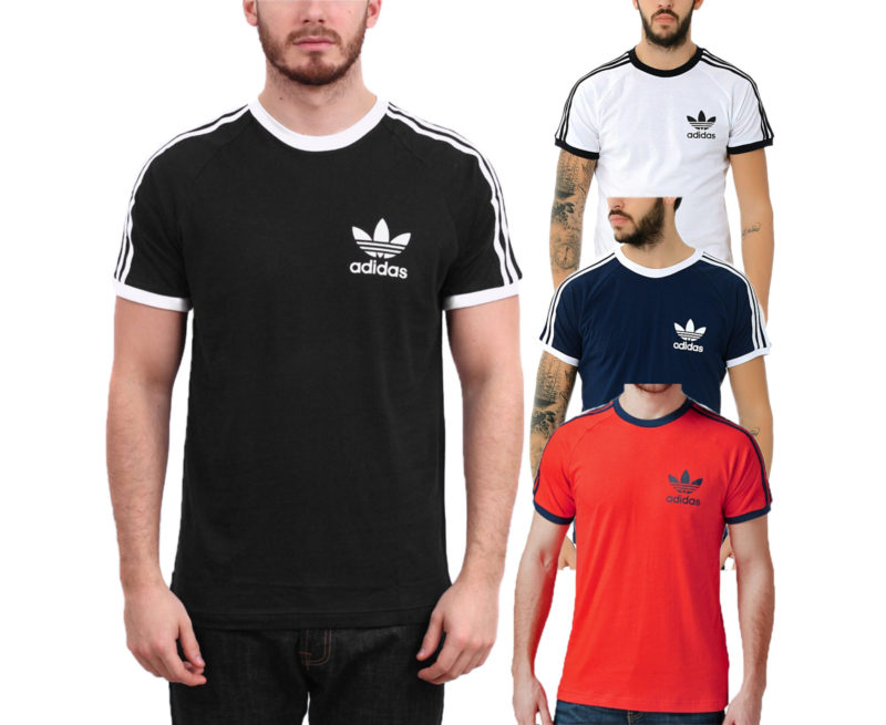 adidas originals men's california retro design tee trefoil logo t-shirts gift