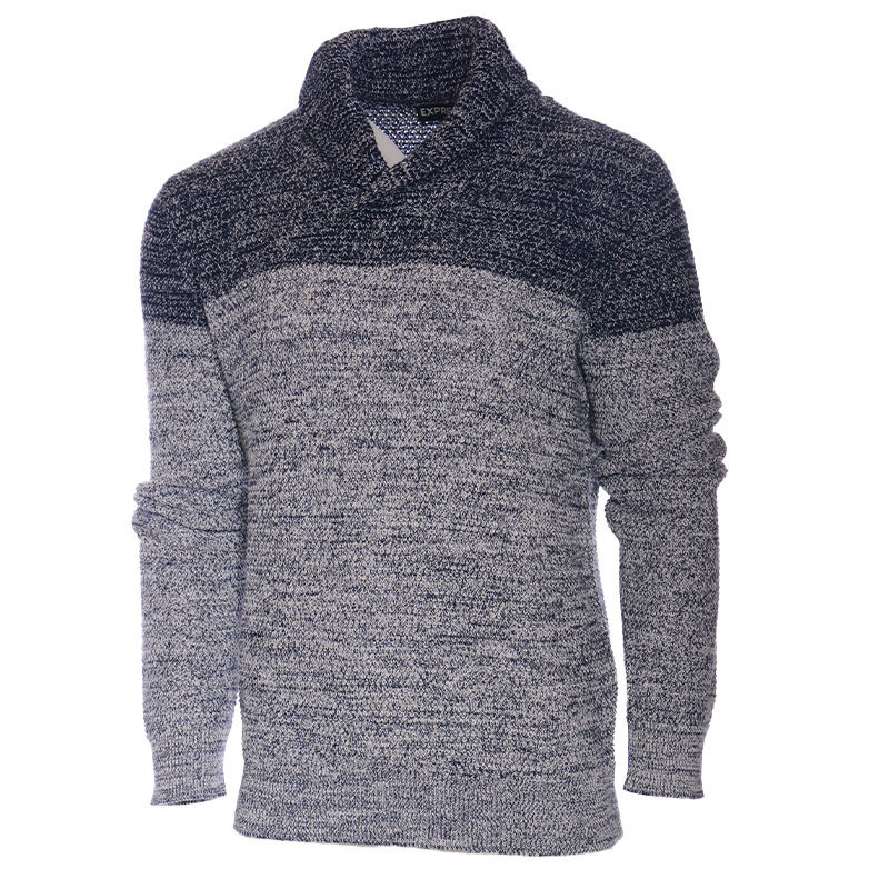 mens winter new jumper shawl neck knitwear top thick pullover mens sweater xs-xl