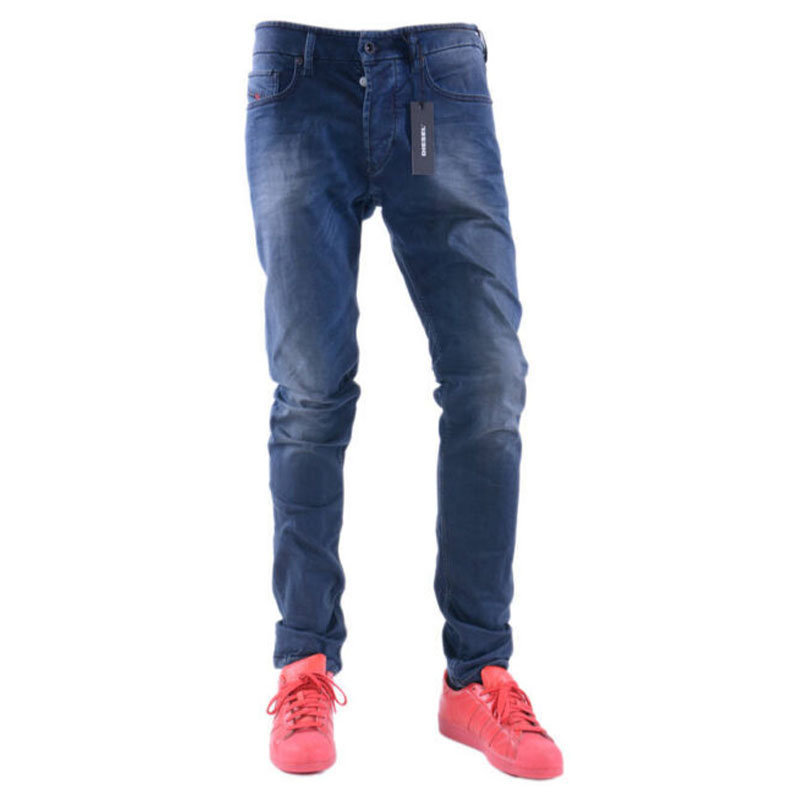 diesel tepphar 0681h mens denim jeans stretch slim fit carrot casual pants
