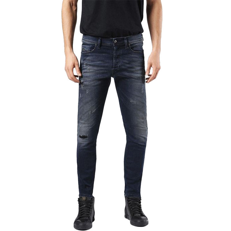 diesel tepphar 0677k mens denim jeans slim carrot fit cotton stretch casual pant