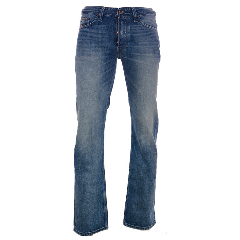 diesel viker 0rz49 mens denim jeans regular straight fit cotton casual pants