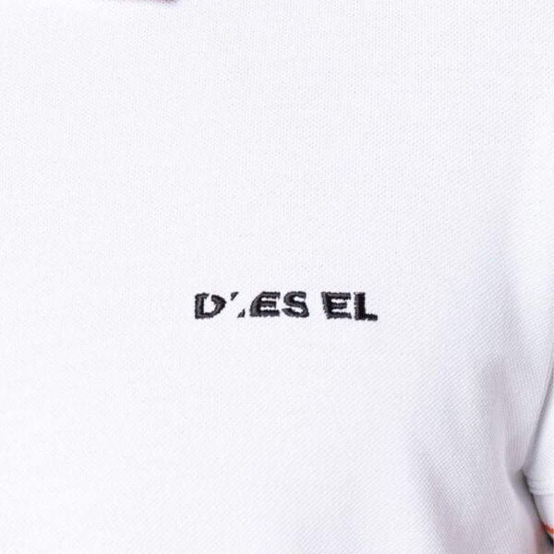 diesel t randy broken mens polo t shirt short sleeve classic cotton golf tee top