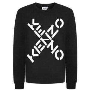 kenzo 5sw521 mens x logo sweatshirt pullover jumper letter print men top sweat