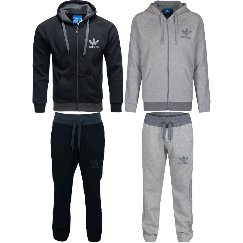 adidas spo mens originals  hoodie jogger full tracksuit fleece size s m l xl