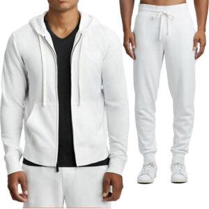 true religion 101714 mens zip hoodie cotton top casual sweatshirt jogger bottom
