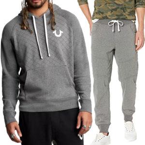 true religion 101461 mens casual zip hoodie cotton top sweatshirt jogger bottom