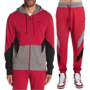 true religion 101957 mens hoodie casual cotton top sweatshirt jogger track pants
