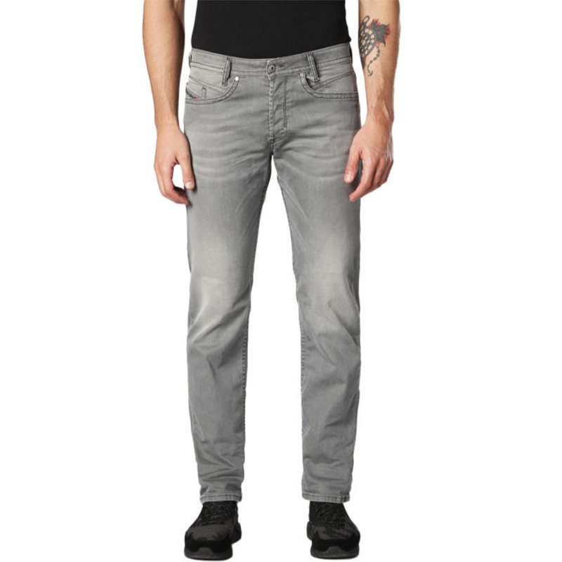 diesel akee 0699p mens stretch denim jeans regular slim tapered casual pants
