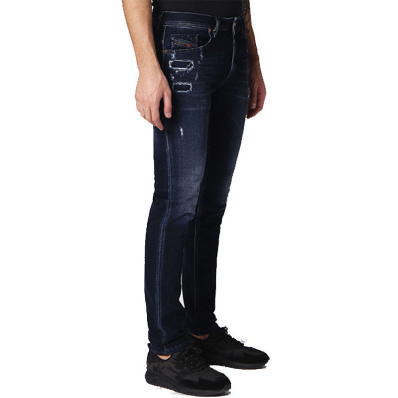 diesel thommer 084nf mens denim stretch casual jeans slim fit skinny distressed