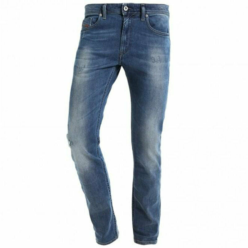 diesel thommer 084nv mens denim jeans stretch casual regular fit distressed