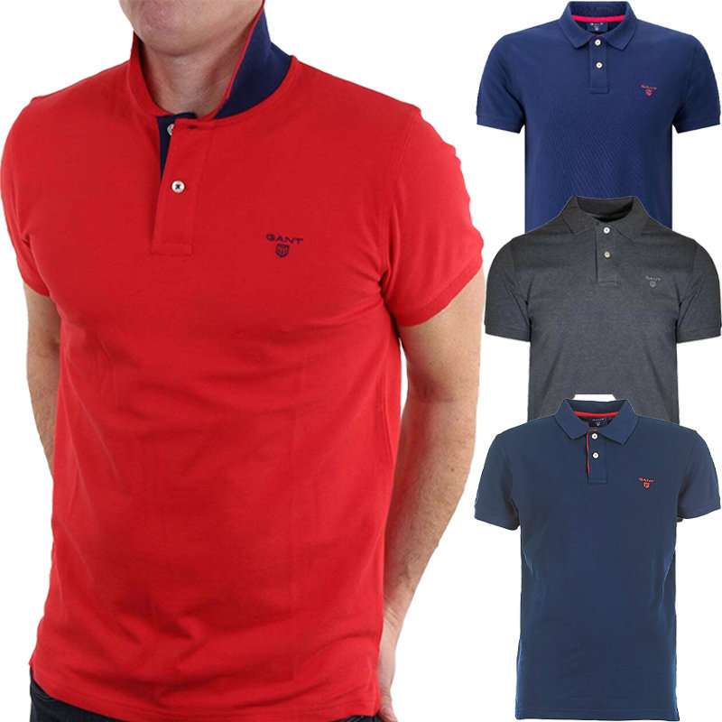 gant mens polo shirt short sleeve casual summer tee golf sports cotton jersey