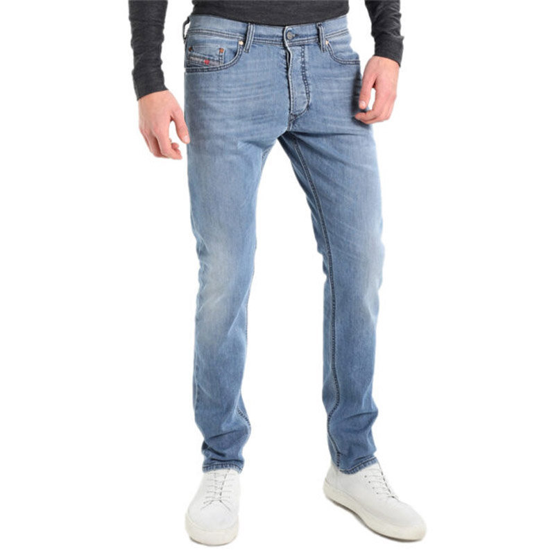 diesel tepphar 0687v mens denim cotton stretch casual jeans slim fit button fly