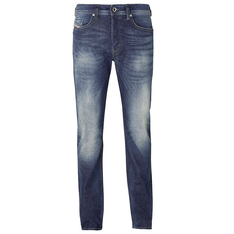 diesel buster 0853r mens denim jeans regular slim tapered stretch casual pants