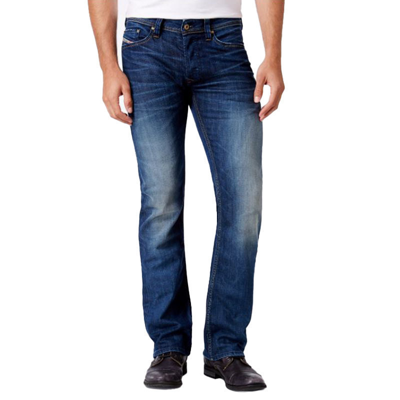 diesel viker u0824 mens denim jeans cotton casual pants regular fit straight leg