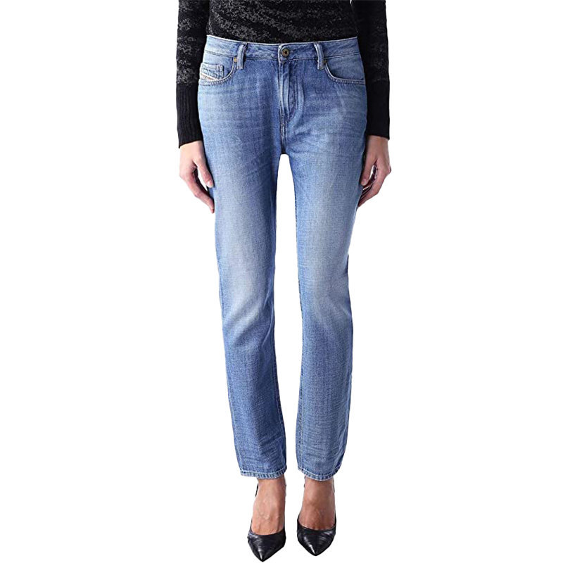 diesel rizzo 0847r womens denim jeans regular slim fit low waist casual trouser