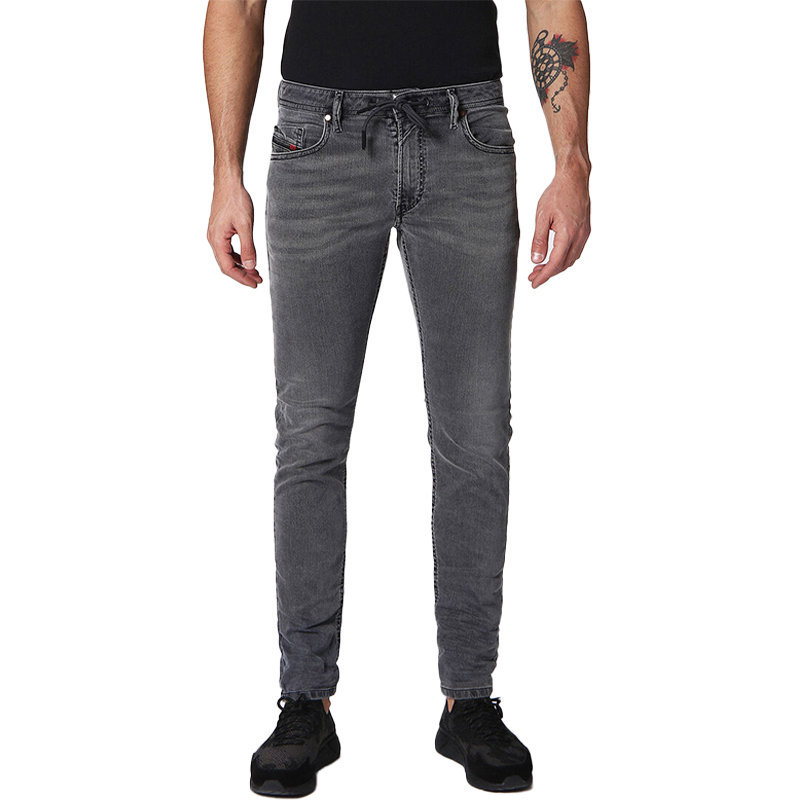 diesel thommer cb-ne 0689v mens denim jogg jeans casual sweat pants skinny fit