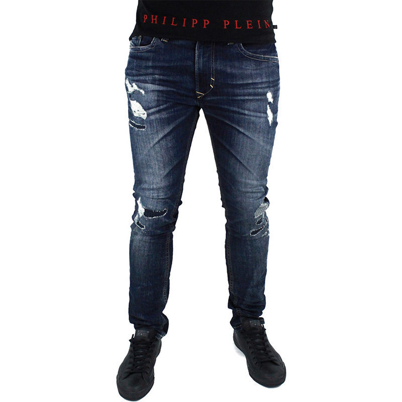 diesel thavar 0854t mens denim jeans slim fit skinny faded trouser pant