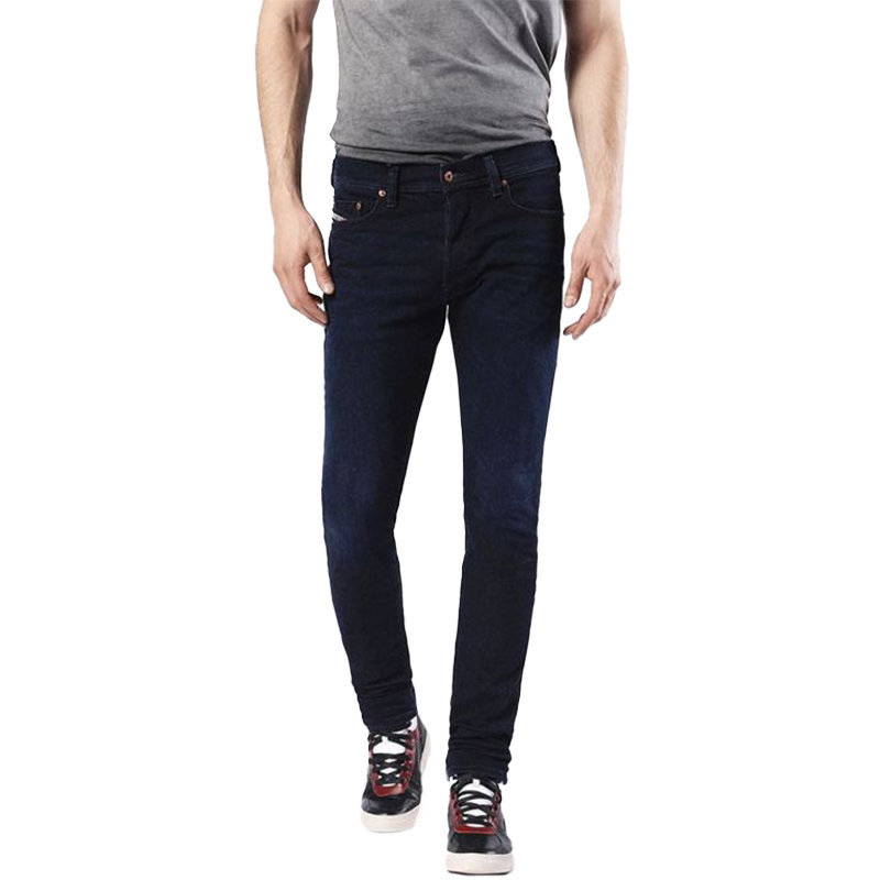 diesel tepphar 0855m mens denim cotton casual stretch jeans slim fit carrot