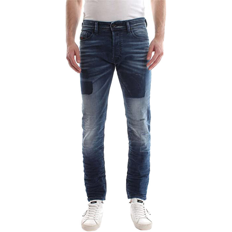 diesel tepphar 084bw mens denim cotton casual stretch jeans slim fit carrot