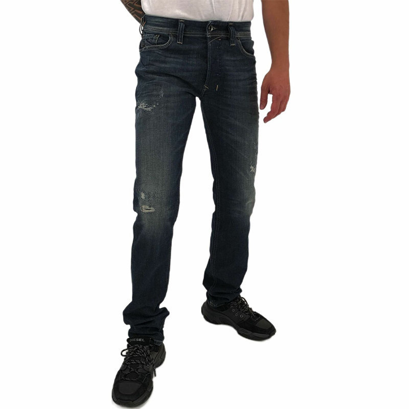 diesel safado 0860k mens denim jeans casual stretch regular slim straight pants