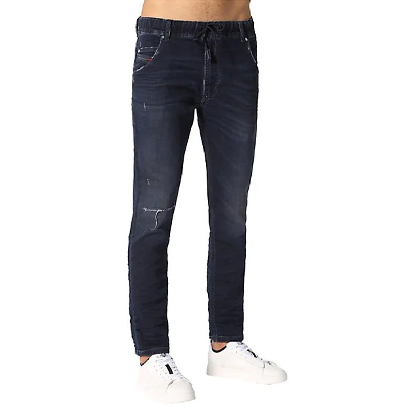 diesel krooley ne 0699w mens denim sweat jogg jeans regular fit tapered fade